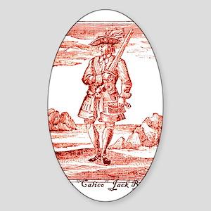 Calico Jack Pirate Oval Sticker