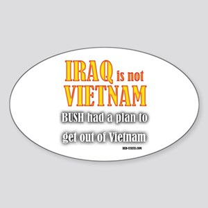 Iraq is not Vietnam Oval Sticker