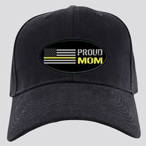 U.S. Flag Yellow Line: Proud Black Cap with Patch