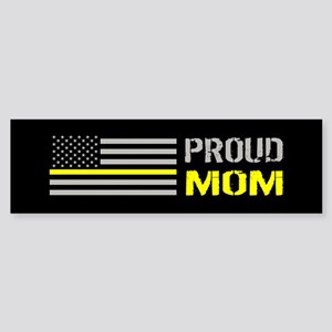 U.S. Flag Yellow Line: Proud Mom Sticker (Bumper)