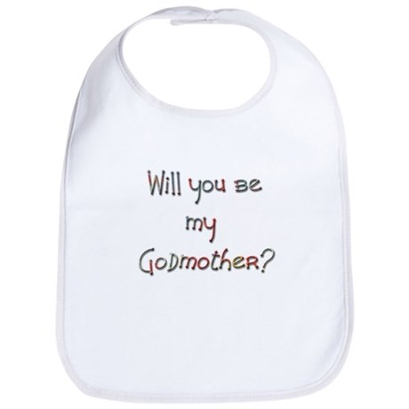 Candaa Will you be my Godmother Bib