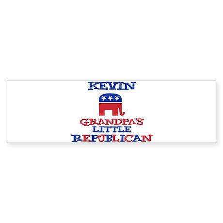Kevin - Grandpa's Little Repu Bumper Sticker