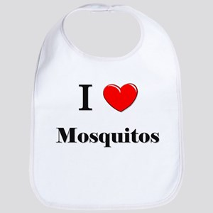 I Love Mosquitos Bib