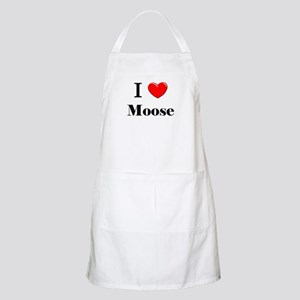 I Love Moose BBQ Apron
