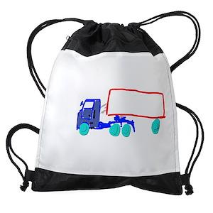 4262e8e397 Semi Truck Drawstring Bags - CafePress