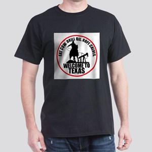 Texas Calf Roper Round T-Shirt