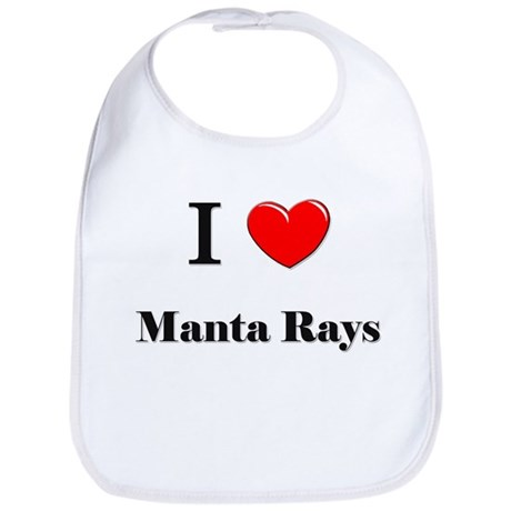 I Love Manta Rays Bib