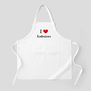 I Love Lobsters BBQ Apron