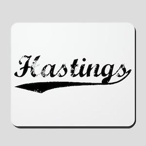 Vintage Hastings (Black) Mousepad