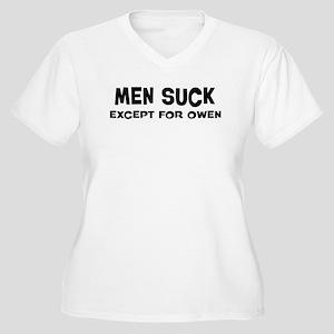 Except for Owen Women's Plus Size V-Neck T-Shirt
