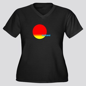 Leilani Women's Plus Size V-Neck Dark T-Shirt