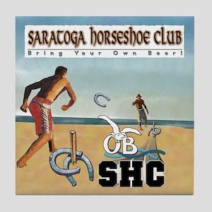 Saratoga Horseshoe Club Tile Coaster