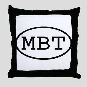 MBT Oval Throw Pillow