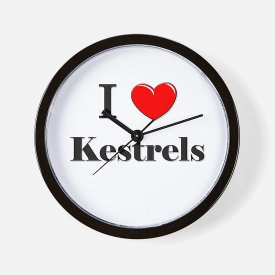 I Love Kestrels Wall Clock