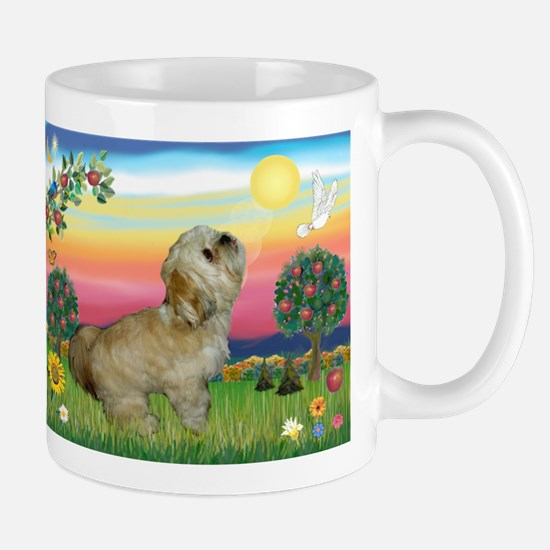 Lhasa Apso in Bright Country Mug