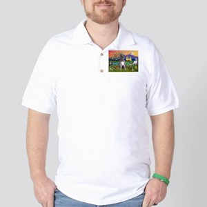 Irish Elf & Irish Wolfhound Golf Shirt