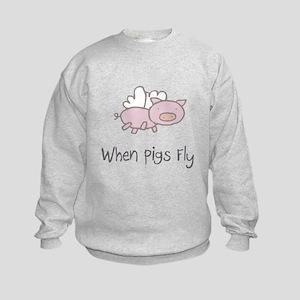 When Pigs Fly Kids Sweatshirt