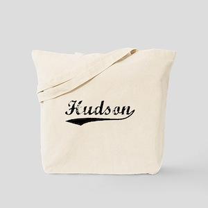 Vintage Hudson (Black) Tote Bag