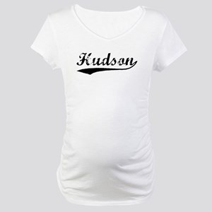 Vintage Hudson (Black) Maternity T-Shirt