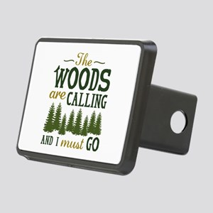 The Woods Are Calling Rectangular Hitch Cover