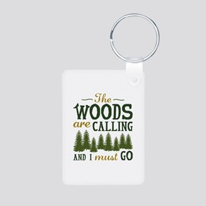 The Woods Are Calling Aluminum Photo Keychain