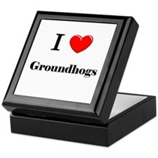 I Love Groundhogs Keepsake Box