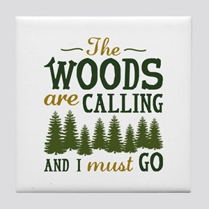 The Woods Are Calling Tile Coaster