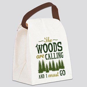 The Woods Are Calling Canvas Lunch Bag