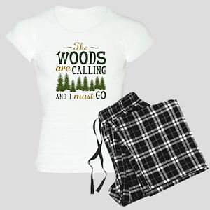 The Woods Are Calling Women's Light Pajamas