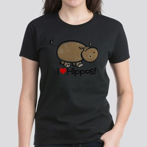 I Love Hippos Women's Light T-Shirt