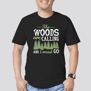 The Woods Are Calling Men's Fitted T-Shirt (dark)