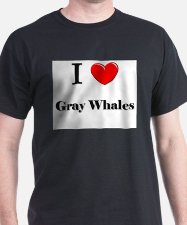 I Love Gray Whales T-Shirt