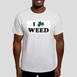 I Shamrock WEED Light T-Shirt