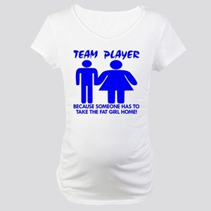 Team Player Takes Maternity T-Shirt