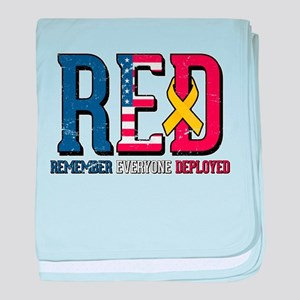 RED Remember Everyone Deployed baby blanket