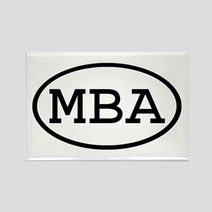 MBA Oval Rectangle Magnet