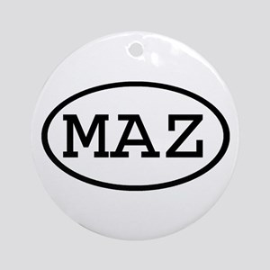 MAZ Oval Ornament (Round)