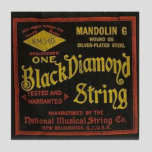 Black Diamond Tile Coaster