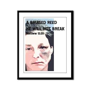 Bruised Reed Framed Panel Print