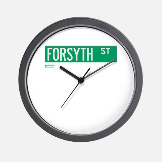 Forsyth Street in NY Wall Clock