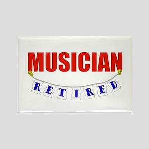 Retired Musician Rectangle Magnet