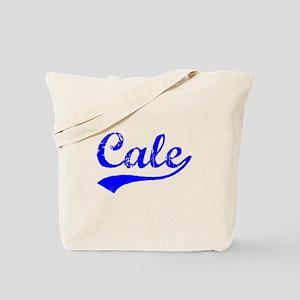 Vintage Cale (Blue) Tote Bag