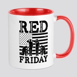 Red Friday Flag Soldiers 11 oz Ceramic Mug