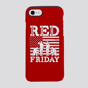 Red Friday Flag Soldiers iPhone 8/7 Tough Case