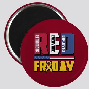 RED Friday Remember Everyone Deployed Magnet
