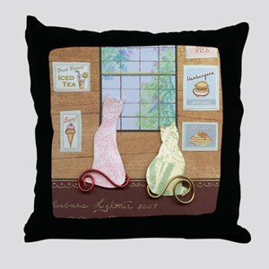 Funky Inside Cats Throw Pillow