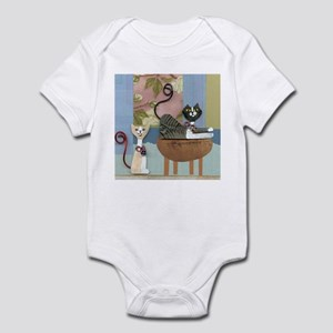 Swanky Inside Cats Infant Bodysuit