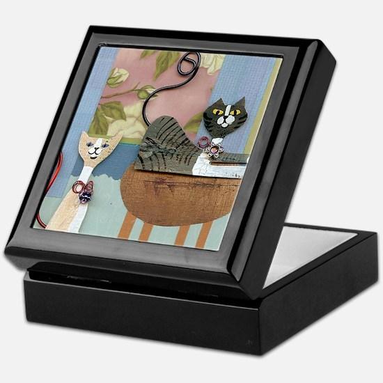 Swanky Inside Cats Keepsake Box