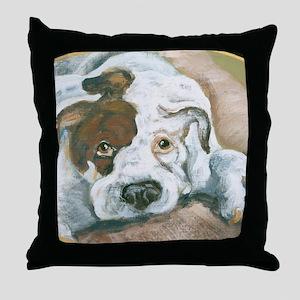 Loafing Boxer Throw Pillow