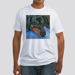 Waiting Dachshund Fitted T-Shirt
